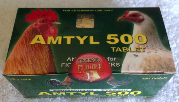 Amtyl 500 | Anti Biotic | Bacterial Flushing ~ Tablet | Gamecock