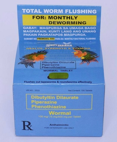 pills with worm