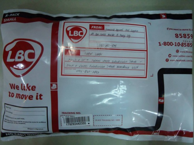 LBC Tracking Number 179293442355 Front View