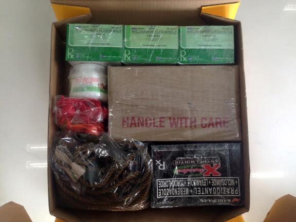 Packaging DHL Waybill Number 9971573032