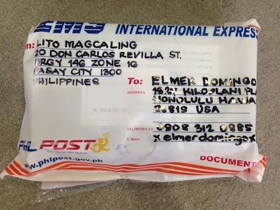 Shipment Front EMS - USPS Tracking Number EE060623334PH