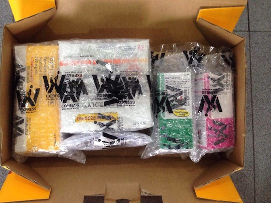 Wrapping DHL Waybill Number 1447706680